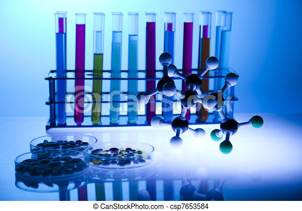 Biochemistry Laboratory and glass  - csp7653584