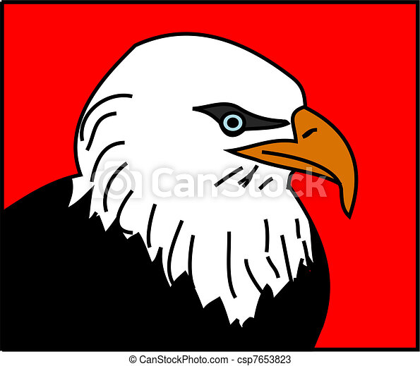 Eagle Logo Red a Bald Eagle With Red