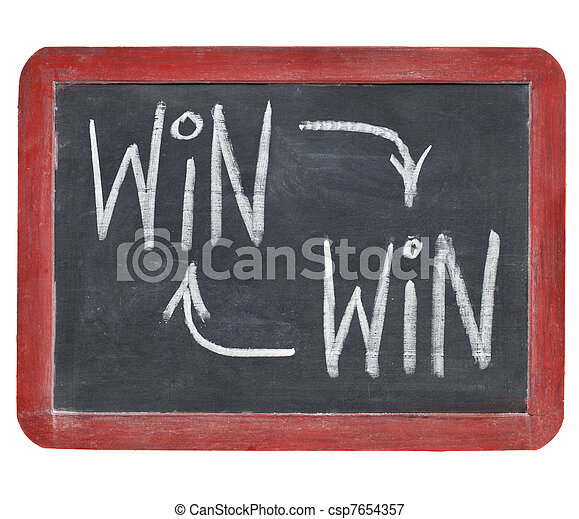 win-win concept on blackboard - csp7654357