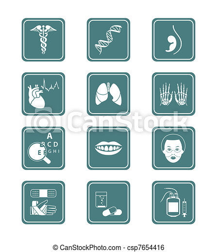 Medicine icons | TEAL series - csp7654416