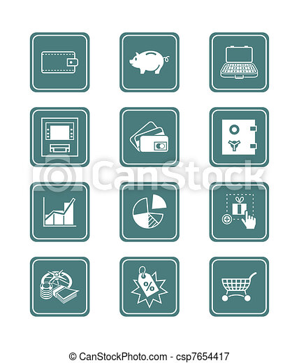 Money matters icons   TEAL series - csp7654417