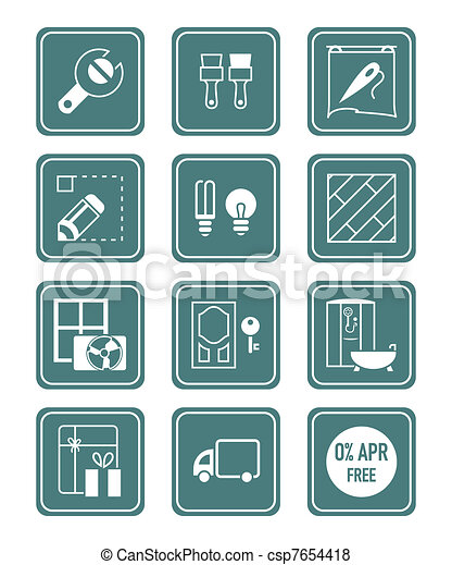 Home repair icons | TEAL series - csp7654418
