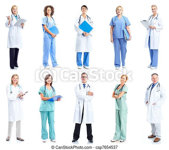 médico, Grupo, doutores - csp7654537