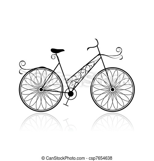 Female bicycle for your design - csp7654638