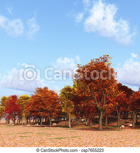 drawings of autumn scenery csp7655223 search clipart