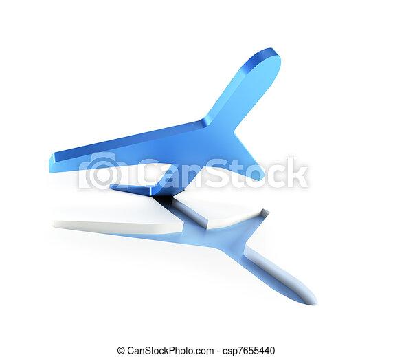 symbolic airplane take off - csp7655440