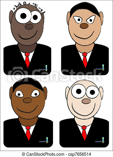 businessman avatars - csp7656514