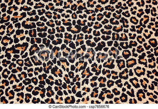 abstract texture of leopard fur (skin) - csp7656676