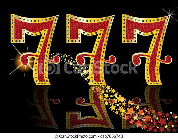 lucky seven slot Machine Jackpot  - csp7656743