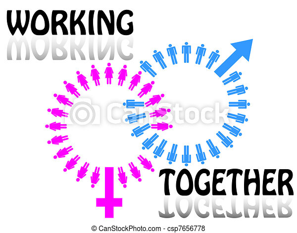 Work team concept. Men and Women - csp7656778