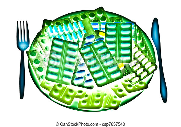 Glowing pharmaceutical plate - csp7657540