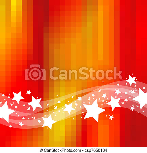 Abstract holidays background with waves & stars - csp7658184