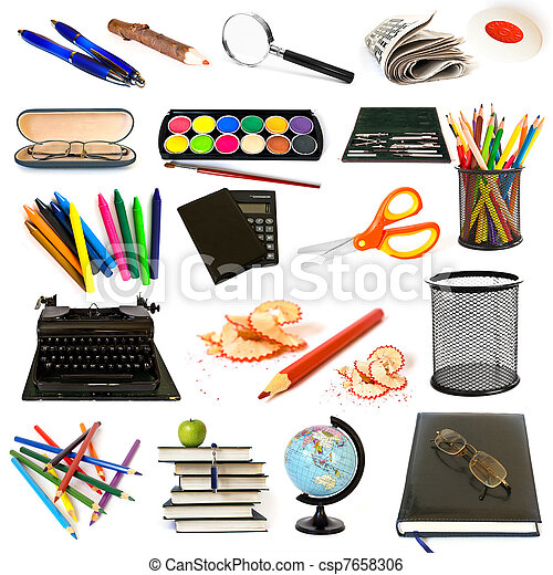 Group of education theme objects - csp7658306