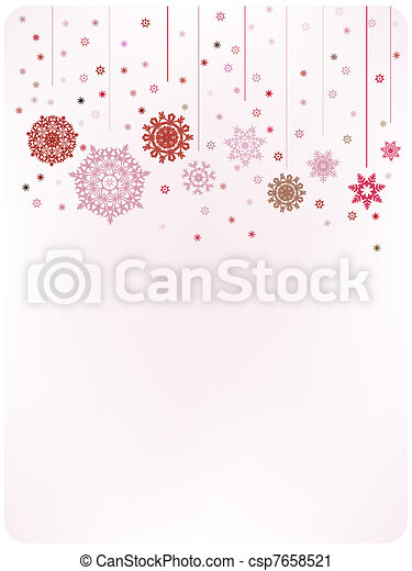 Christmas warm card template. EPS 8 - csp7658521