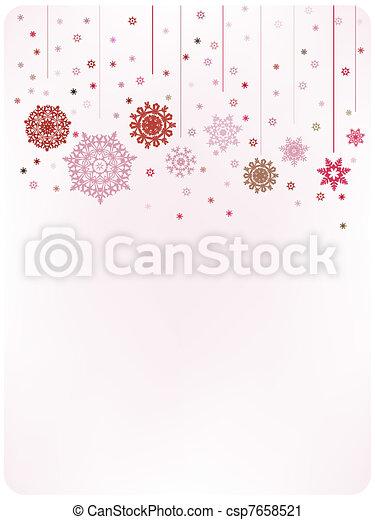 Christmas warm card template. EPS 8 - csp7658521