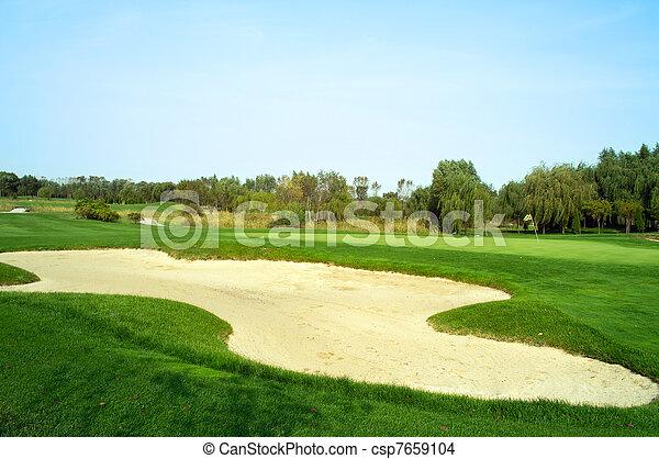 Golf course sand trap - csp7659104