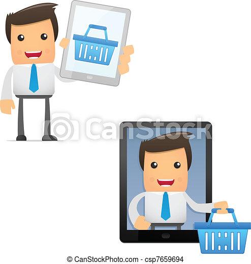 set of funny cartoon manager - csp7659694