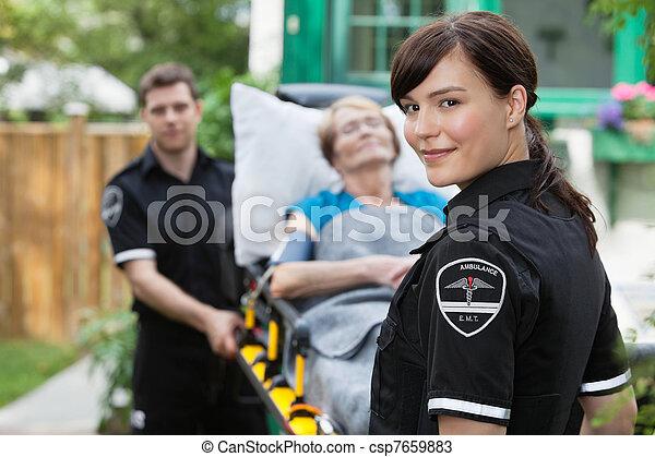 Ambulance Worker Portrait - csp7659883