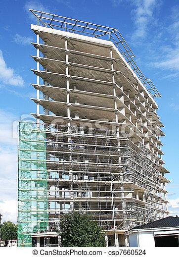 Built multistory building - csp7660524