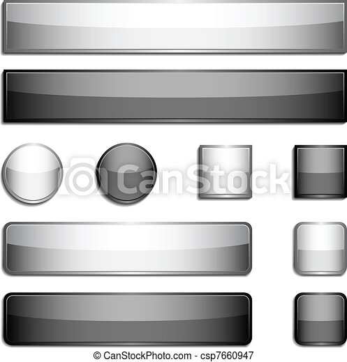 Glossy metal buttons - csp7660947