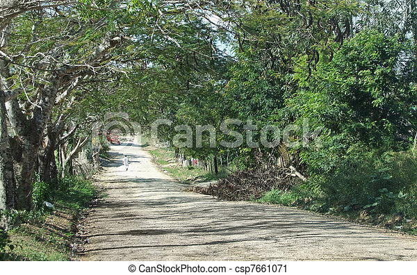 dusty country lane - csp7661071