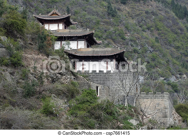 traditional building near Yangtze River - csp7661415
