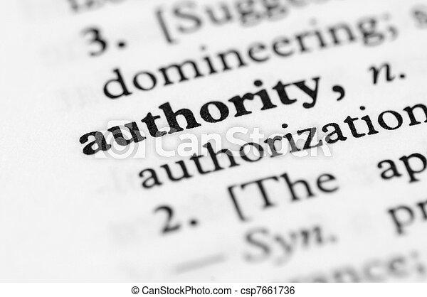 Dictionary Series - Authority - csp7661736