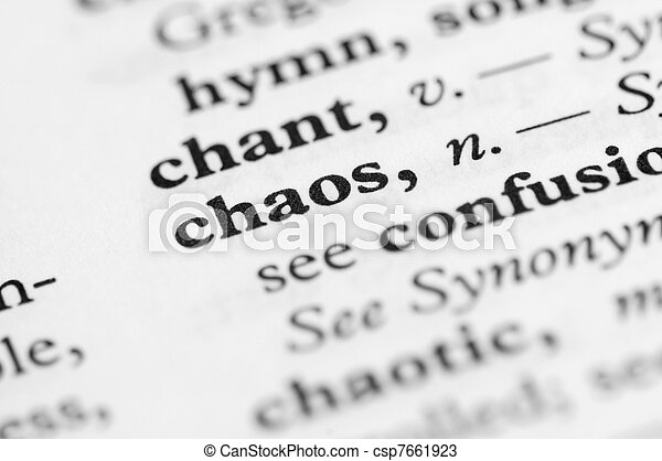 Dictionary Series - Chaos - csp7661923