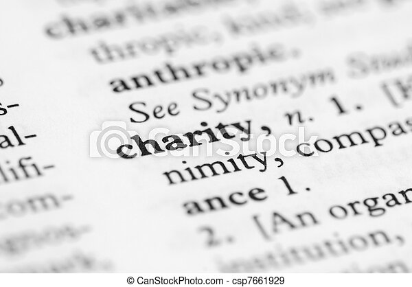 Dictionary Series - Charity - csp7661929