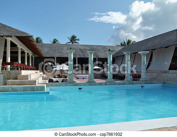 holiday resort with pool - csp7661932