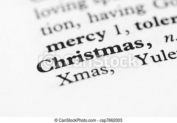 Dictionary Series - Christmas - csp7662003
