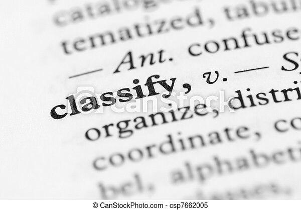 Dictionary Series - Classify - csp7662005