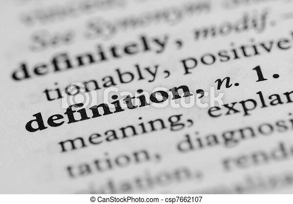 Dictionary Series - Definition - csp7662107