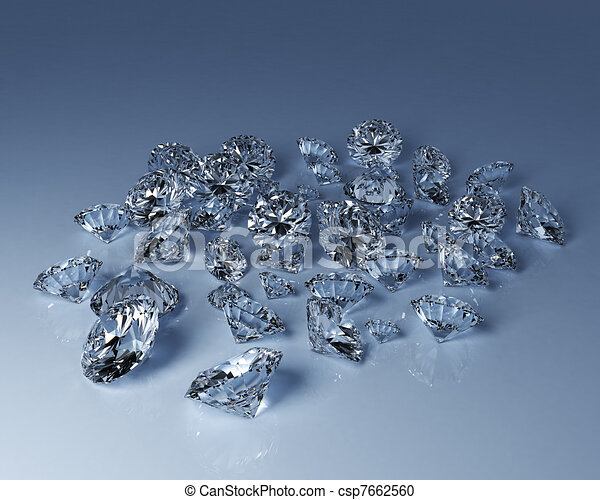 Numerous diamonds - csp7662560
