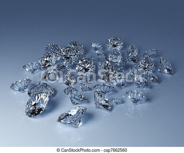 Numerous diamonds - csp7662560
