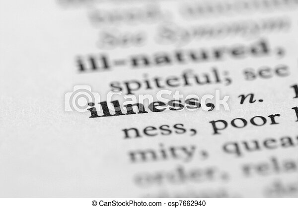 Dictionary Series - Illness - csp7662940