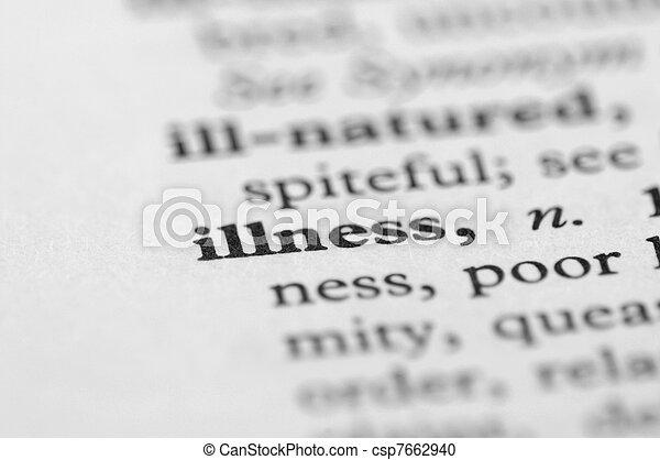 Dictionary Series - Illness - csp7662940