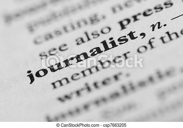Dictionary Series - Journalist - csp7663205
