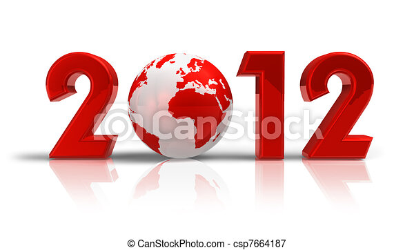 2012 New Year concept - csp7664187
