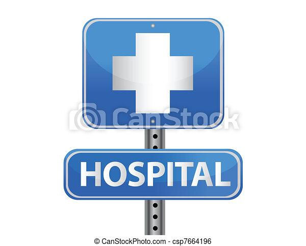 Hospital street sign  - csp7664196