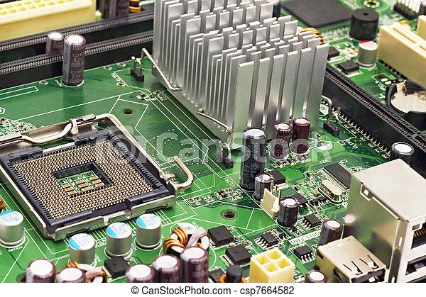 PC motherboard closeup - csp7664582