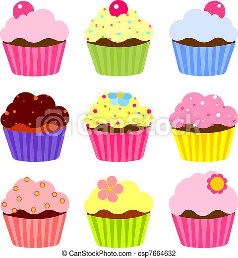 Various cupcake - csp7664632