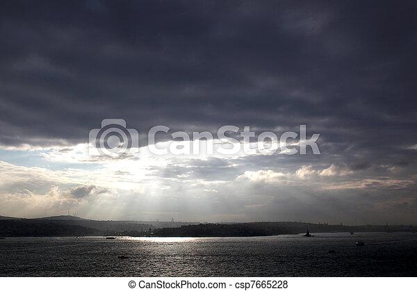 Sunrise Bosporus Istanbul - csp7665228