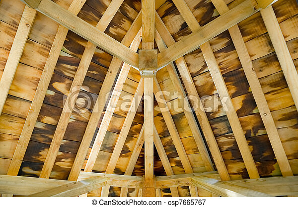 timber roof interior - csp7665767