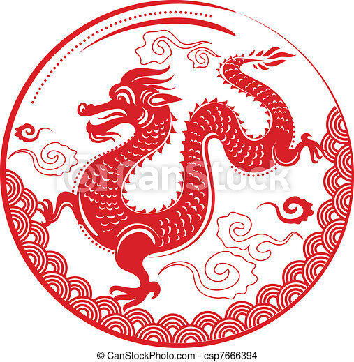 Year of Dragon, Chinese New Year - csp7666394