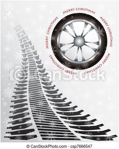 special Christmas card  - csp7666547