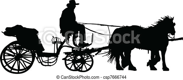 carriage illustration - csp7666744