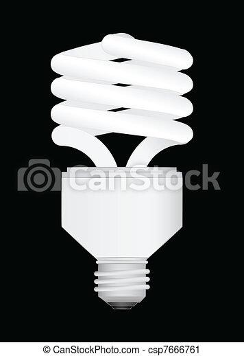 Energy Saving light bulb vector ill - csp7666761