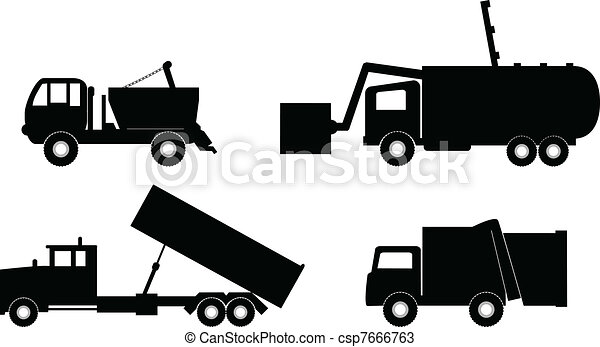 garbage truck vector illustration - csp7666763