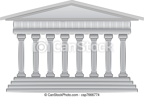 greek dome vector illustration  - csp7666774
